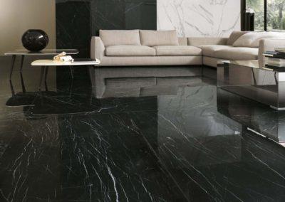 polished black marble style ceramic tiles