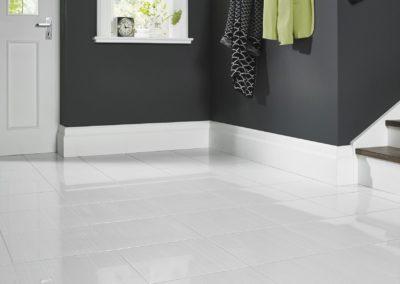 clean white ceramic floor tiles