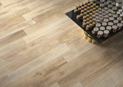 wooden floor style ceramic tiles