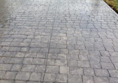 brick style concrete flooring