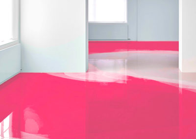coloured epoxy resin floor covering