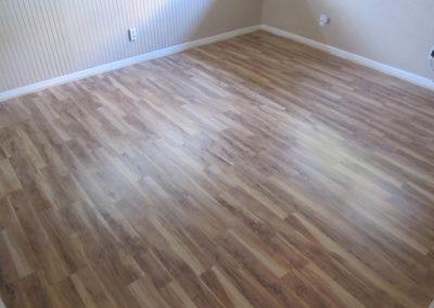 dark brown wooden laminate flooring
