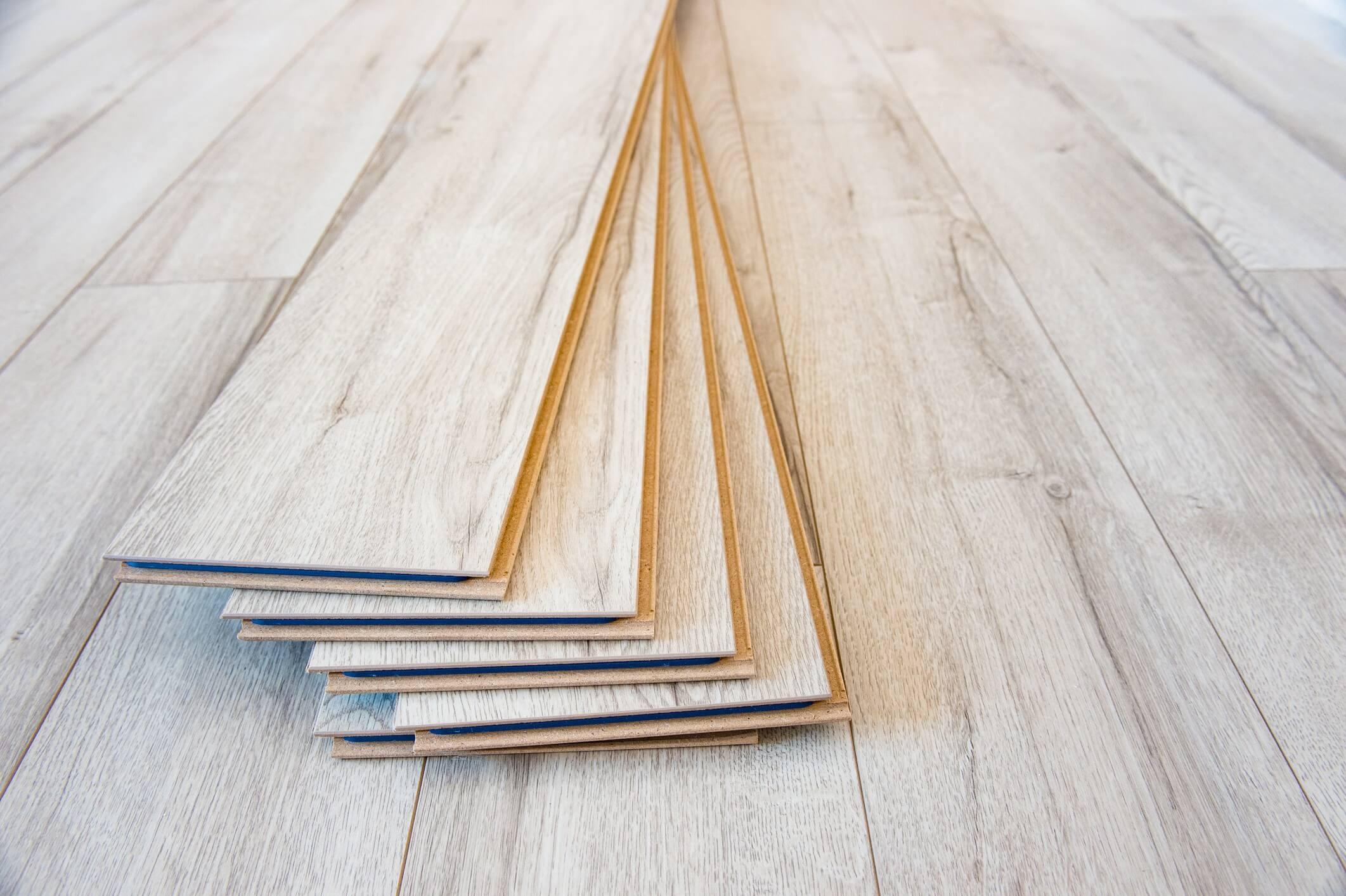 light wooden laminate flooring