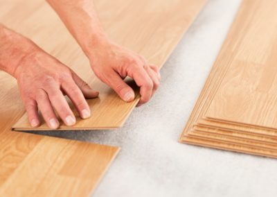 soft brown wooden laminate flooring