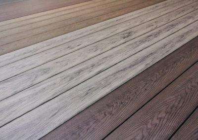multicolour wooden decking