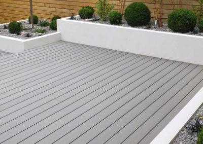 grey wooden decking
